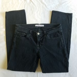 J Brand Faded Black Cropped Ankle Jeans